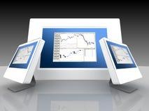 Mercados financieros y de parte Imagen de archivo