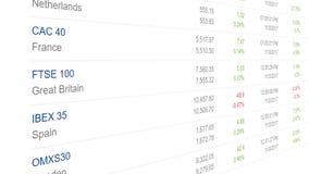Mercados globales y animación común de las cartas de las divisas stock de ilustración