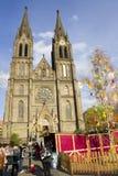 Mercados tradicionales de Pascua en Praga 2012 Imagen de archivo