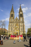 Mercados tradicionales de Pascua en Praga Imagen de archivo