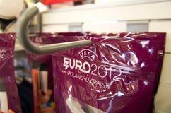 Mercancía de Eurocup 2012 Foto de archivo