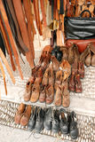 Mercancías de cuero de la artesanía Imagen de archivo