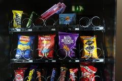 Mercancías de la máquina expendedora Fotografía de archivo libre de regalías