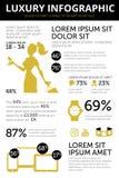 Mercancías de lujo infographic stock de ilustración