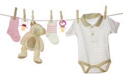 Mercancías del bebé Fotos de archivo libres de regalías