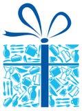Mercancías en un regalo Imágenes de archivo libres de regalías