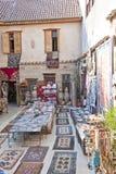 Mercancías hechas a mano en un mercado turco Imagen de archivo libre de regalías