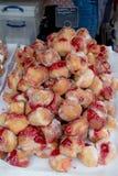 Mercancías para la venta en el festival de la comida de Farnham Fotografía de archivo libre de regalías