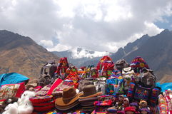 Mercancías peruanas Foto de archivo