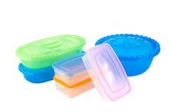 Mercancías plásticas Foto de archivo libre de regalías