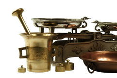 Mercancías viejas de la cocina Fotografía de archivo
