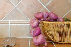 Mercancías y cebolla de la cocina Imagen de archivo libre de regalías