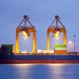Mercancías y fondo logístico Imágenes de archivo libres de regalías