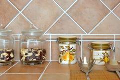 Mercancías y materia de la cocina Imágenes de archivo libres de regalías