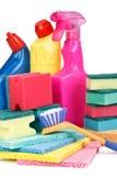 Mercancías del producto químico de hogar Fotos de archivo libres de regalías