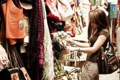 Mercancías del árabe de las compras Imagen de archivo