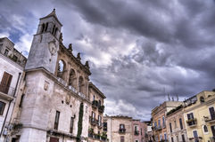 Mercantile Square. Bari. Apulia. Royalty Free Stock Images