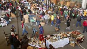 Mercat DE Encants vlooienmarkt stock videobeelden