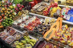 Mercat de Sant Josep de la Boqueria in Barcelona Stockfoto