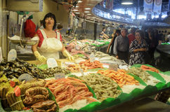 The Mercat de Sant Josep de la Boqueria in Barcelona. Royalty Free Stock Photography