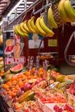 The Mercat de Sant Josep de la Boqueria, a large public market in the Ciutat Vella district in Barcelona, Spain stock images