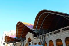 Mercat de Santa Caterina. The colourful artsy wave roof of the Saint Catherine Market in Barcelona, Spain stock photography