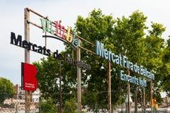 Mercat Fira de Bellcaire. Barcelona, Spain Royalty Free Stock Photos