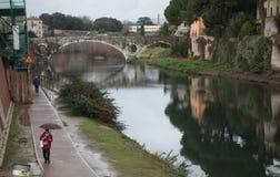 Mercatale Bridge in Prato, Italy Stock Photos