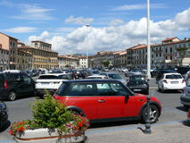 Mercatalevierkant in Prato royalty-vrije stock afbeelding