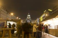 2014 - Mercati di Natale al quadrato di Wenceslas, Praga Immagini Stock Libere da Diritti