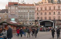 Mercati di Natale a Liberty Square a Brno Immagini Stock Libere da Diritti