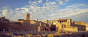 Mercati di Traiano in Rome, Italy Royalty Free Stock Photo