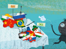 Mercati emergenti Immagine Stock