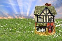 Mercati immobiliari dell'alloggio di ipoteca Fotografia Stock Libera da Diritti