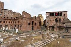 Mercati Traianei, Foro Di Traiano, Ρώμη Ιταλία Στοκ Φωτογραφίες