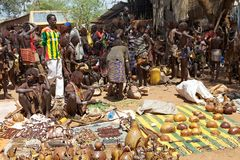 Mercato africano Fotografie Stock