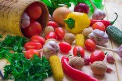 Mercato, agricoltura, vegtables, raccolto, azienda agricola, giardino Immagini Stock Libere da Diritti