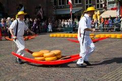 Mercato Alkmaar del formaggio Immagini Stock