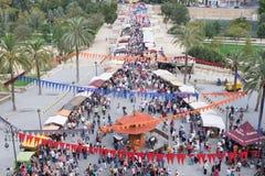 Mercato all'aperto di Valencia, Spagna Fotografia Stock