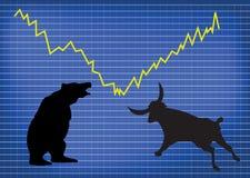 Mercato azionario Fotografie Stock