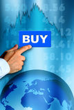Mercato azionario del Bull Immagine Stock