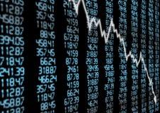 Mercato azionario giù Immagini Stock Libere da Diritti