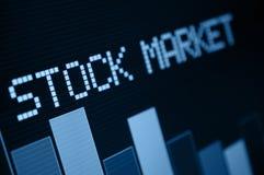 Mercato azionario giù Fotografie Stock Libere da Diritti
