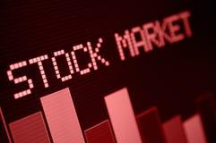 Mercato azionario giù Fotografia Stock Libera da Diritti