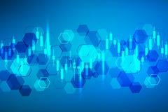 Mercato azionario o grafico commerciale dei forex Grafico nel fondo di finanza dell'estratto dell'illustrazione di vettore del me illustrazione di stock