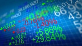 Mercato azionario Profondità di campo bassa Immagine Stock