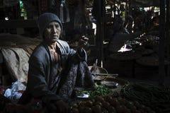 Mercato in Bagan, Myanmar Fotografie Stock
