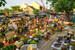 Mercato bagnato di Hoi An Vietnam fotografia stock libera da diritti
