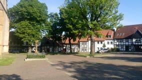 Mercato a Bielefeld Schildesche, Germania Fotografie Stock Libere da Diritti