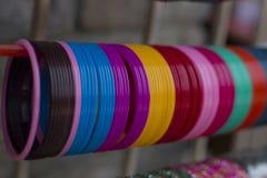 Mercato-braccialetti indiani fotografia stock libera da diritti